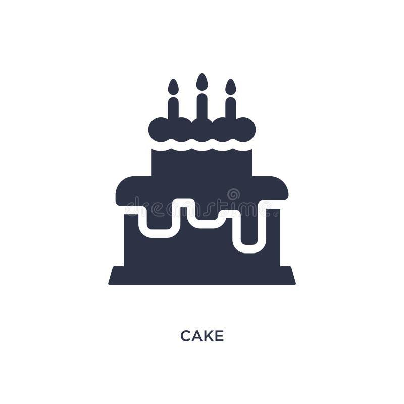 Значок торта на белой предпосылке Простая иллюстрация элемента от концепции brazilia бесплатная иллюстрация