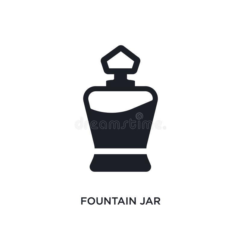 значок фонтана изолированный опарником простая иллюстрация элемента от значков концепции одежды женщины символ знака логотипа опа иллюстрация штока