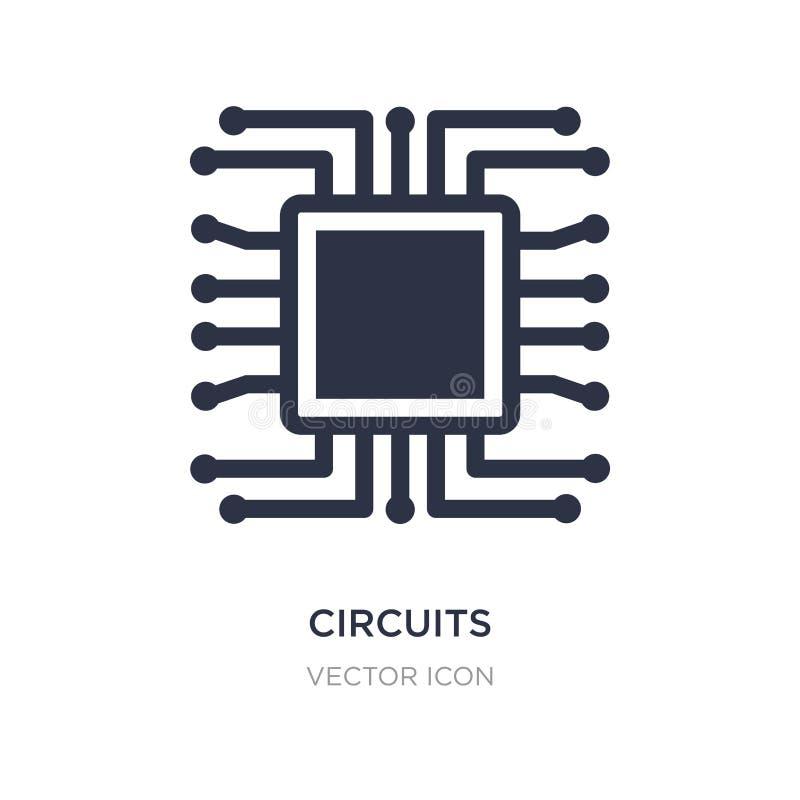 значок цепей на белой предпосылке Простая иллюстрация элемента от концепции оборудования иллюстрация вектора