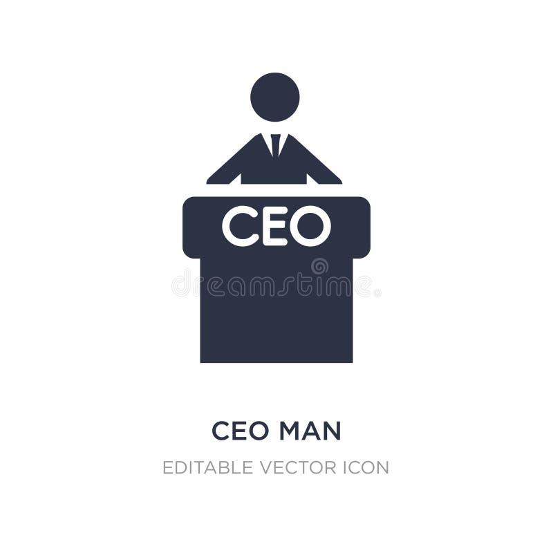 значок человека CEO (главный исполнительный директор) на белой предпосылке Простая иллюстрация элемента от концепции людей иллюстрация вектора