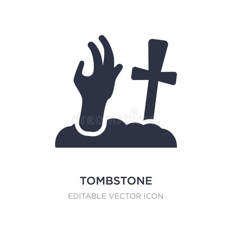 значок руки зомби надгробной плиты на белой предпосылке Простая иллюстрация элемента от другой концепции бесплатная иллюстрация