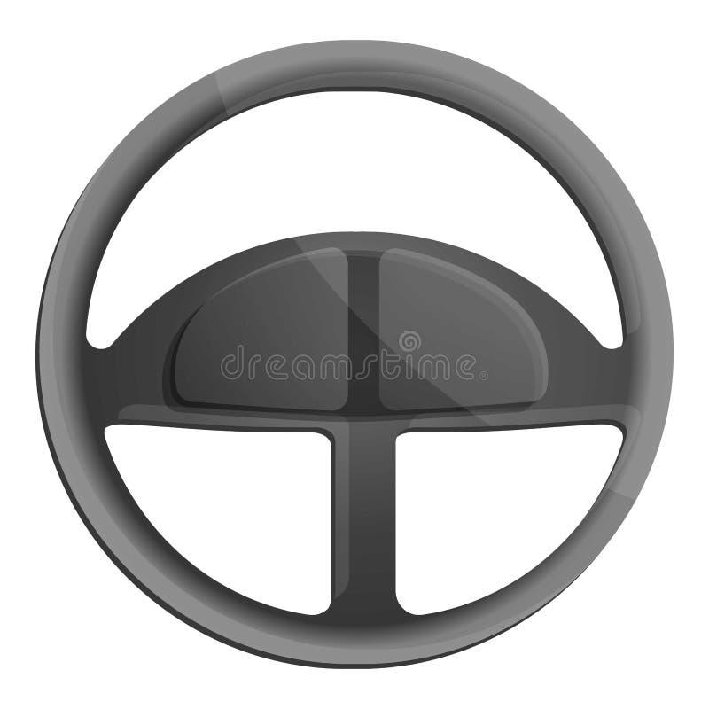 Значок руля автомобиля, стиль мультфильма бесплатная иллюстрация