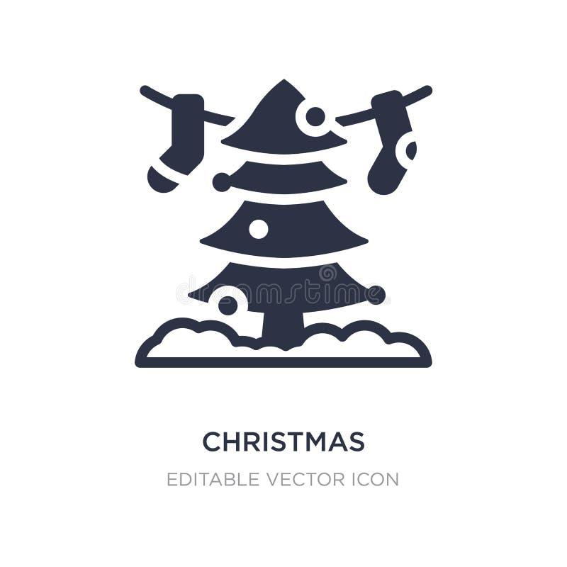 значок рождества на белой предпосылке Простая иллюстрация элемента от концепции рождества иллюстрация штока