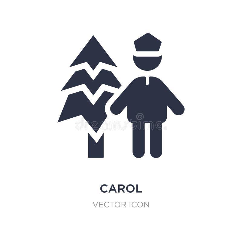 значок рождественского гимна на белой предпосылке Простая иллюстрация элемента от концепции людей иллюстрация вектора