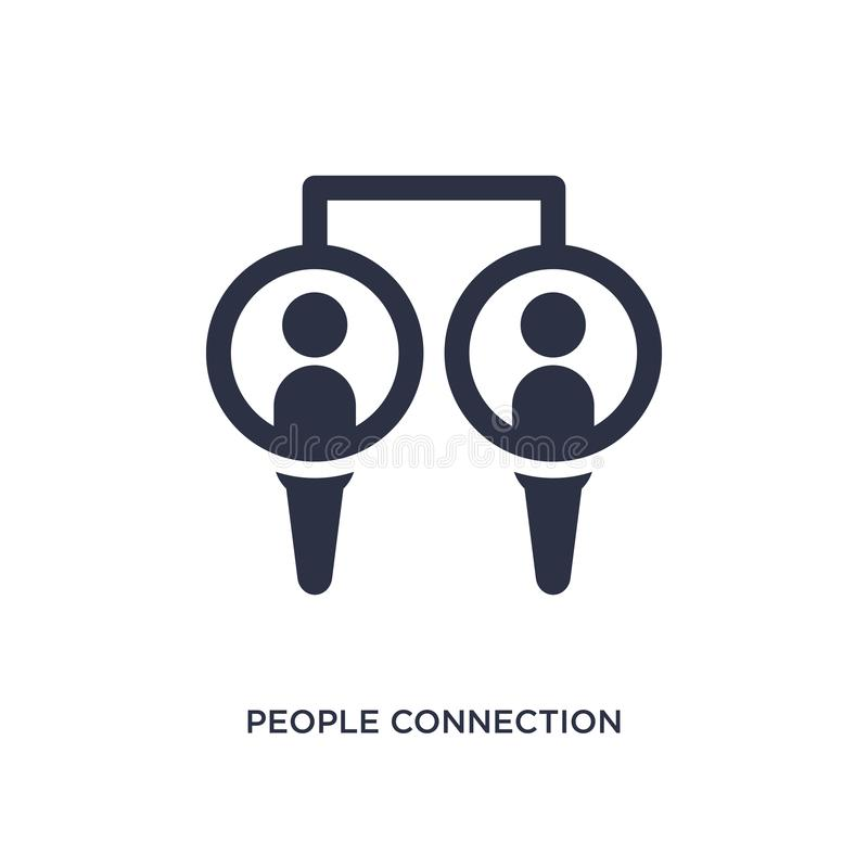 значок соединения людей на белой предпосылке Простая иллюстрация элемента от концепции связи иллюстрация вектора