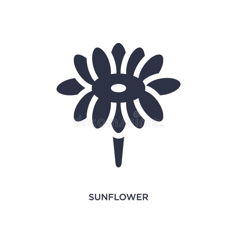 значок солнцецвета на белой предпосылке Простая иллюстрация элемента от концепции brazilia иллюстрация вектора