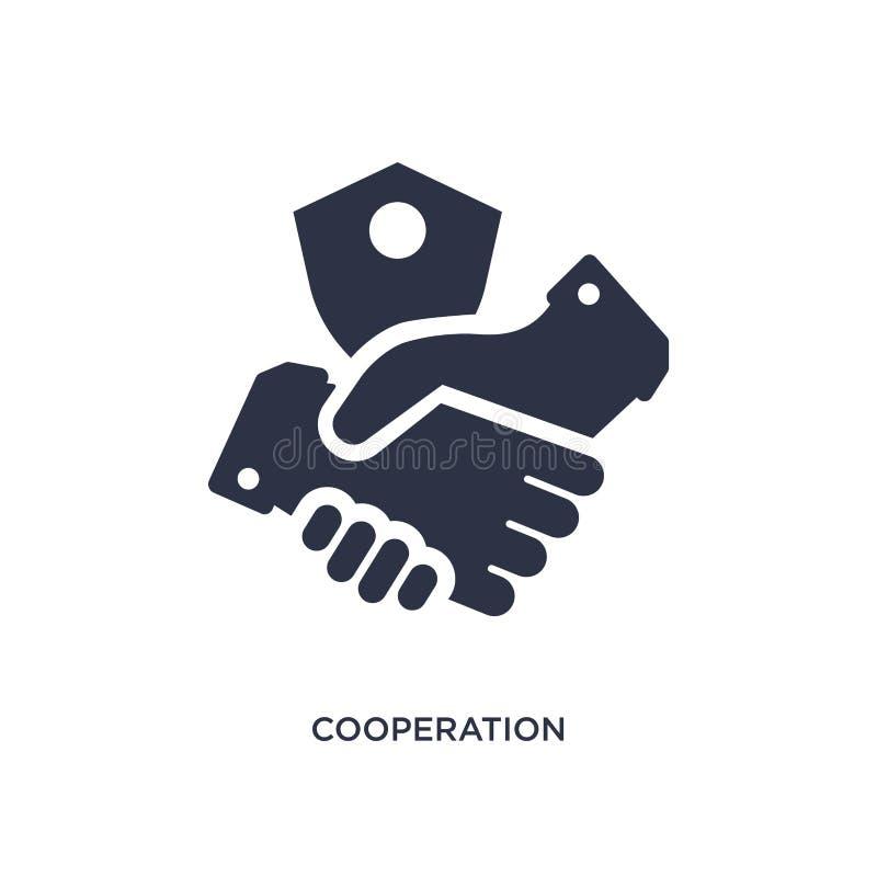 значок сотрудничества на белой предпосылке Простая иллюстрация элемента от концепции gdpr бесплатная иллюстрация