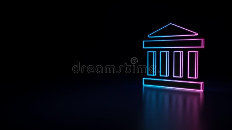 значок 3d банка иллюстрация вектора