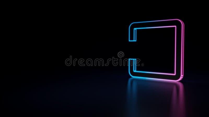 значок 3d выхода к кнопке приложения иллюстрация вектора