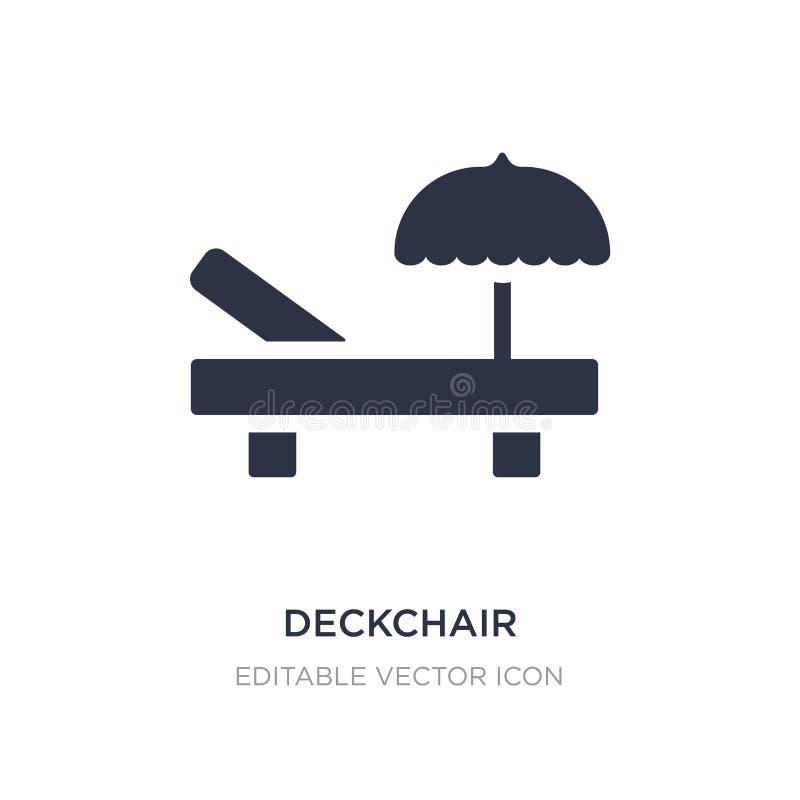 значок deckchair на белой предпосылке Простая иллюстрация элемента от обобщенного представления бесплатная иллюстрация