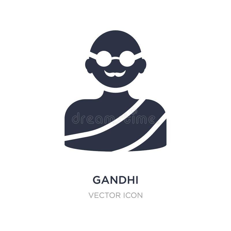 значок gandhi на белой предпосылке Простая иллюстрация элемента от концепции призрения бесплатная иллюстрация