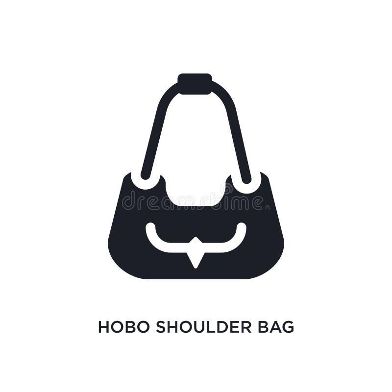 значок hobo изолированный сумкой простая иллюстрация элемента от значков концепции одежды женщины логотип сумки hobo editable иллюстрация вектора