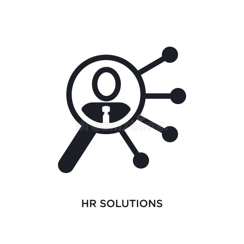 значок hr изолированный решениями простая иллюстрация элемента от значков концепции general-1 символ знака логотипа решений hr ed иллюстрация вектора