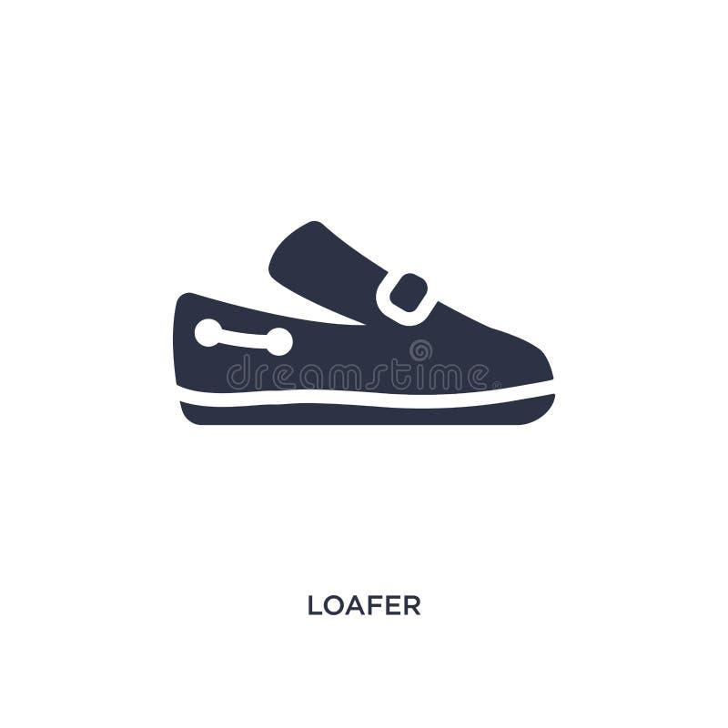 значок loafer на белой предпосылке Простая иллюстрация элемента от концепции одежд иллюстрация вектора