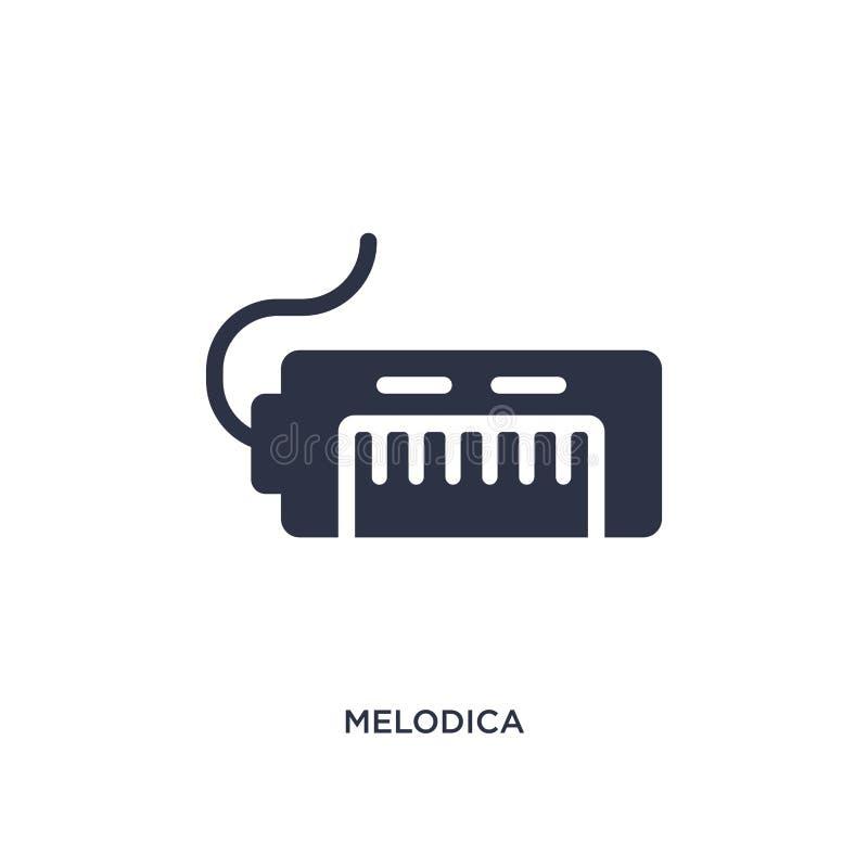 значок melodica на белой предпосылке Простая иллюстрация элемента от концепции музыки бесплатная иллюстрация