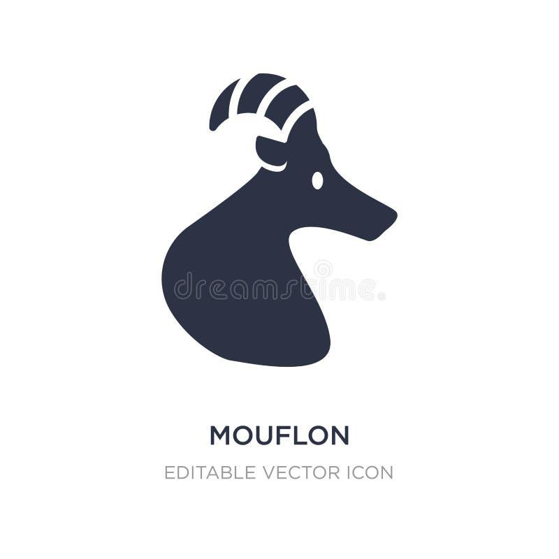 значок mouflon на белой предпосылке Простая иллюстрация элемента от концепции животных иллюстрация вектора