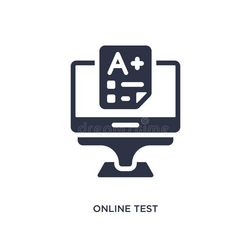 значок онлайн-теста на белой предпосылке Простая иллюстрация элемента от концепции образования бесплатная иллюстрация