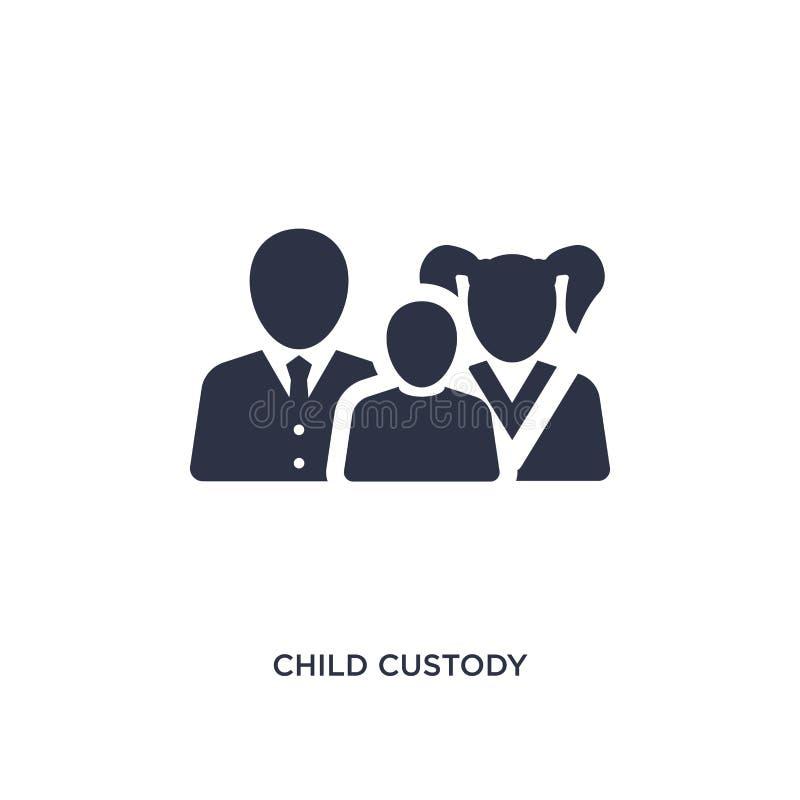 значок опеки над детьми на белой предпосылке Простая иллюстрация элемента от концепции закона и правосудия иллюстрация штока