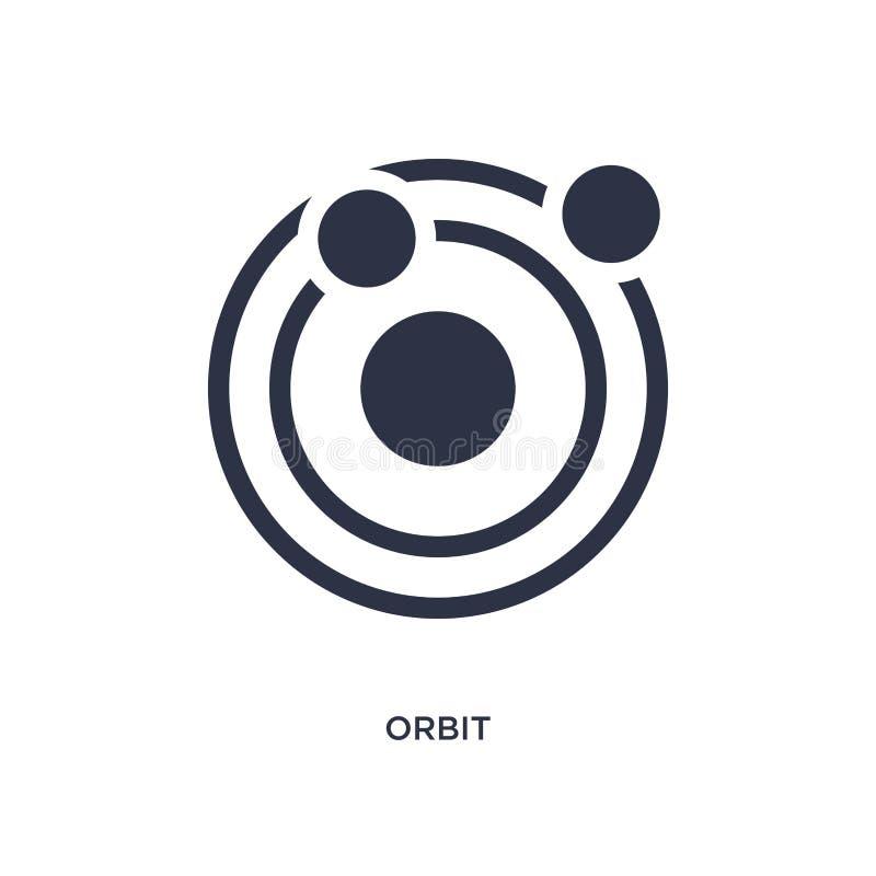 значок орбиты на белой предпосылке Простая иллюстрация элемента от концепции ориентации бесплатная иллюстрация