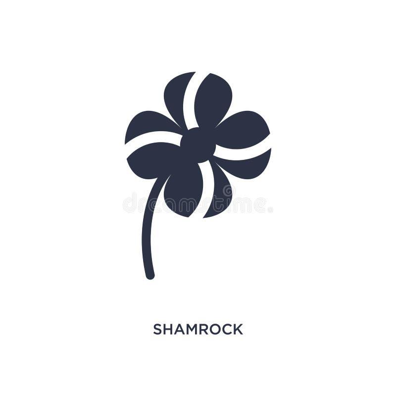 Значок Shamrock на белой предпосылке Простая иллюстрация элемента от концепции экологичности иллюстрация вектора