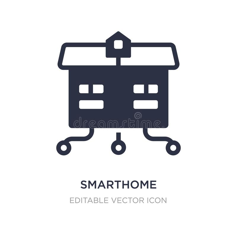 значок smarthome на белой предпосылке Простая иллюстрация элемента от другой концепции иллюстрация штока