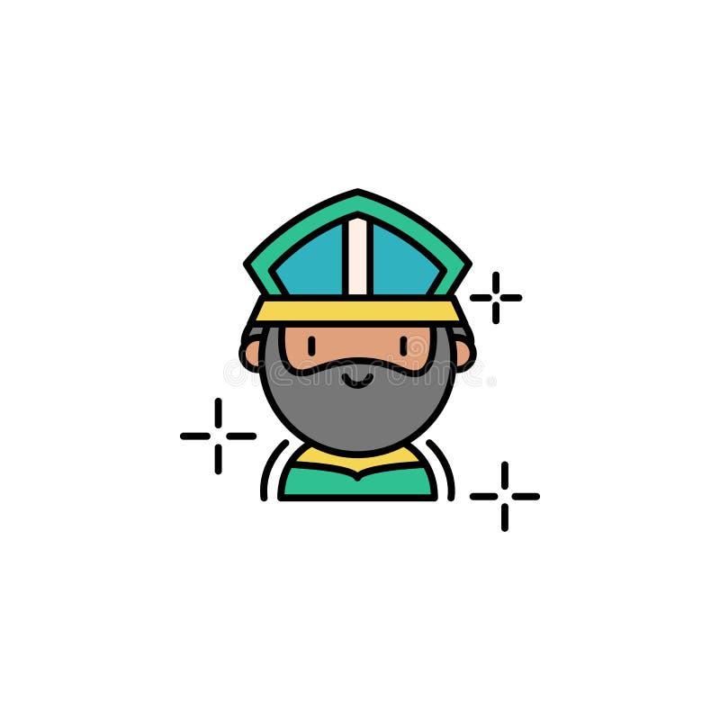 Значок St. Patrick Элемент значка дня St Patricks цвета Наградной качественный значок графического дизайна Знаки и значок собрани бесплатная иллюстрация