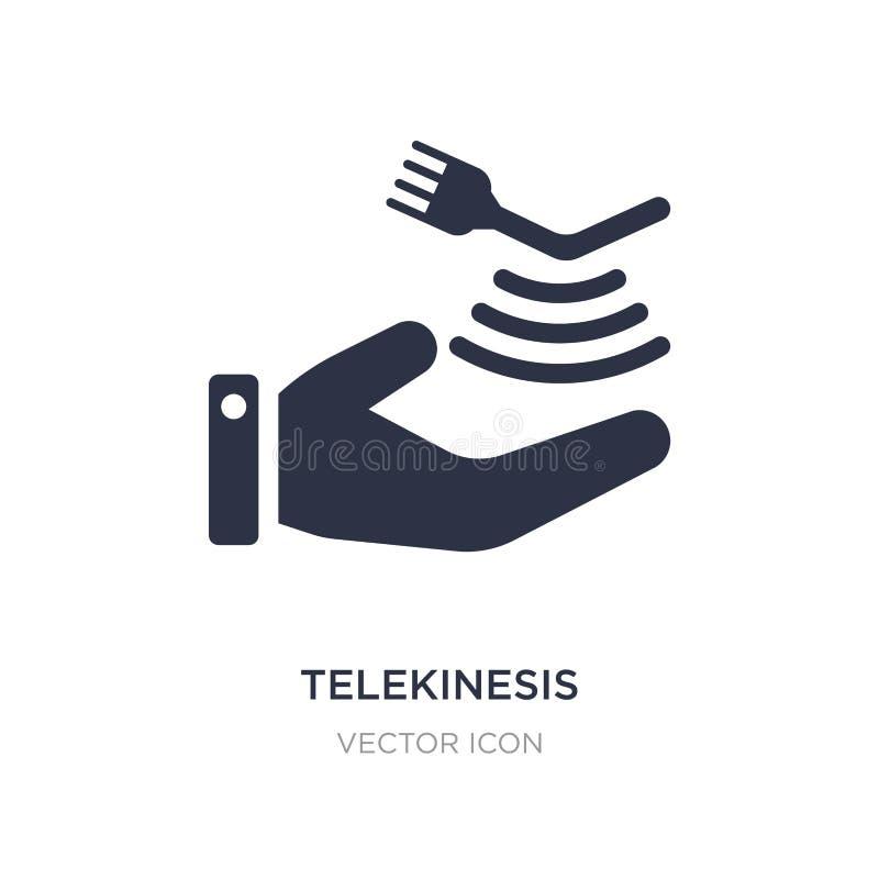значок telekinesis на белой предпосылке Простая иллюстрация элемента от будущей концепции технологии иллюстрация вектора