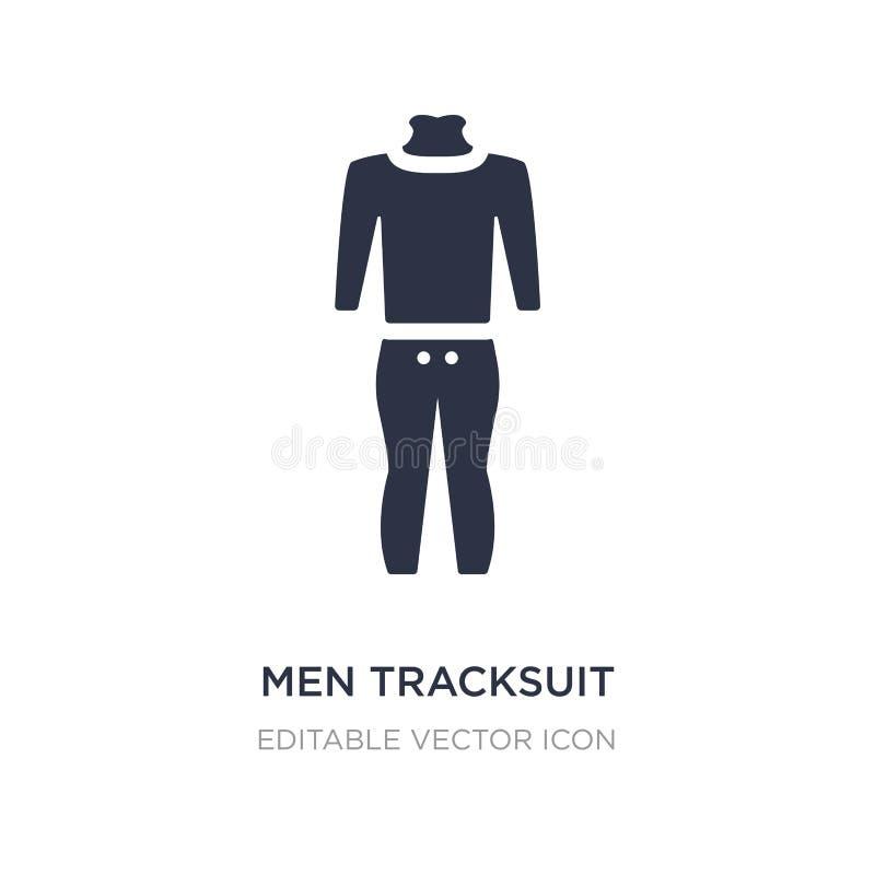 значок tracksuit людей на белой предпосылке Простая иллюстрация элемента от концепции моды иллюстрация штока