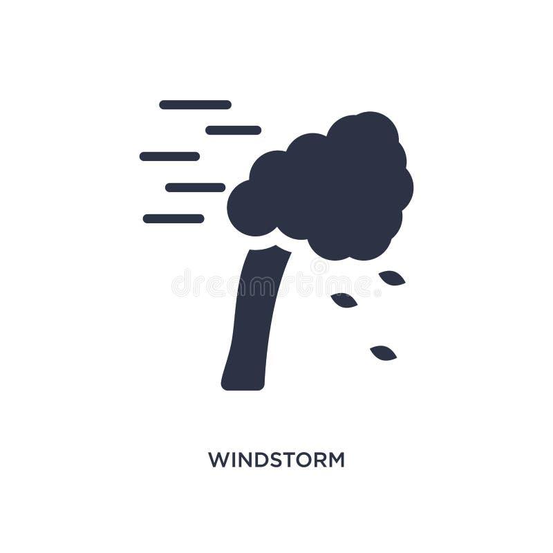 значок windstorm на белой предпосылке Простая иллюстрация элемента от концепции природы иллюстрация вектора