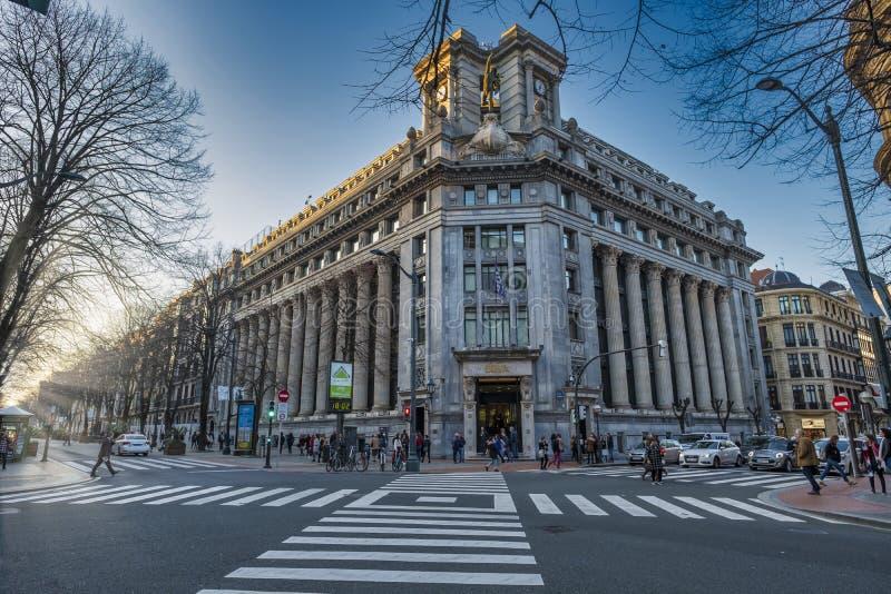 Здание Бильбао, банка BBVA стоковые фото