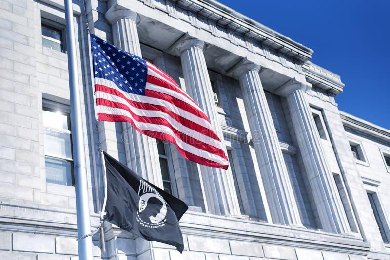 Здание суда Портленд Мейн Cumberland County стоковое фото