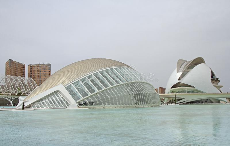 """Здание l """"Hemisferic в valencian городе искусств и наук стоковая фотография"""