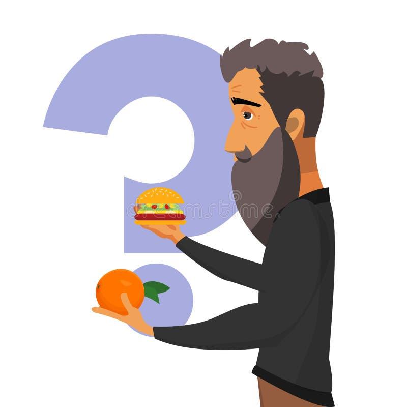 Здоровая еда, концепция плаката вектора образа жизни бесплатная иллюстрация