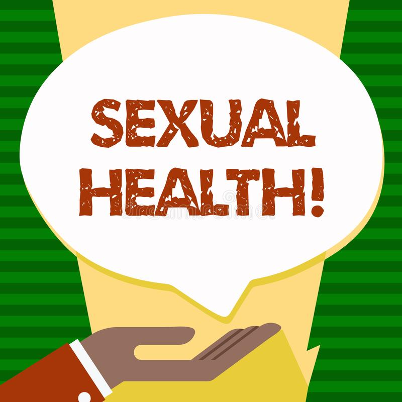 Здоровье текста почерка сексуальное Концепция знача заботу секса привычек предохранения от пользы предохранения STD здоровую иллюстрация вектора