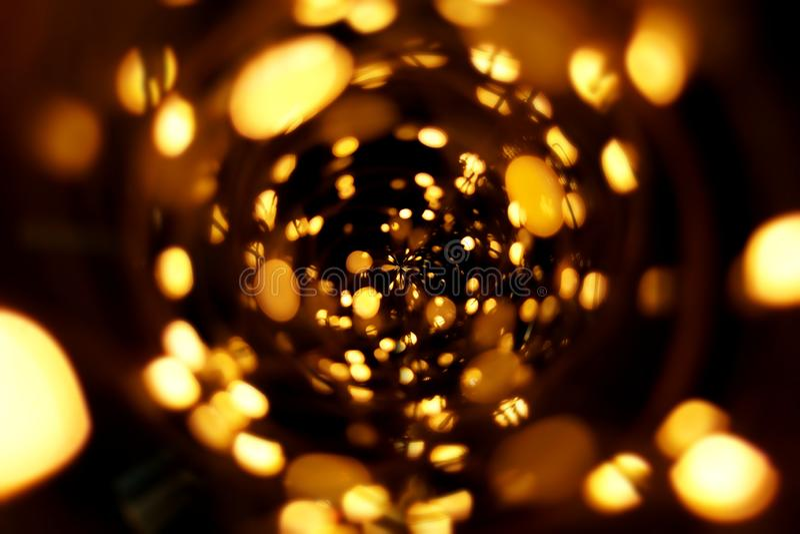 Золотое bokeh запачкало абстрактную предпосылку картины стоковая фотография