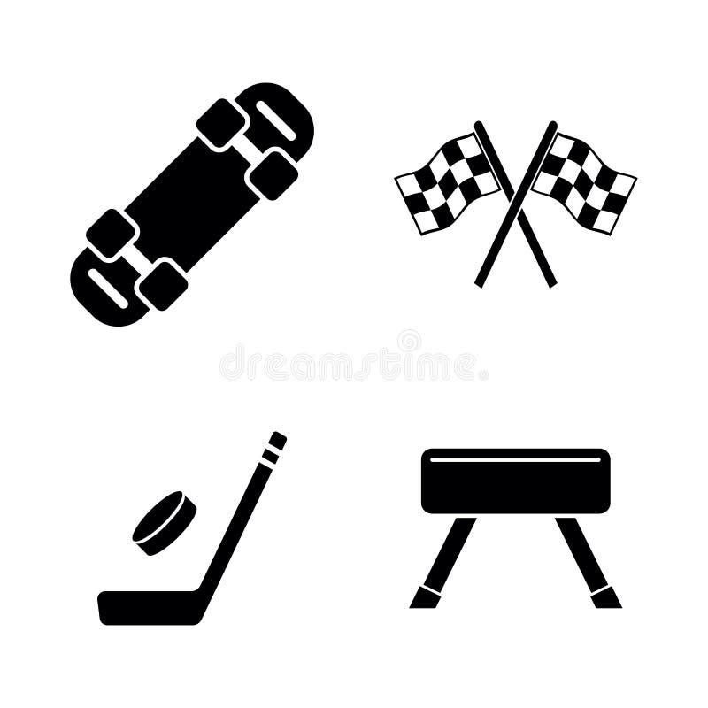 Игры спорта деятельности Простые родственные значки вектора иллюстрация вектора