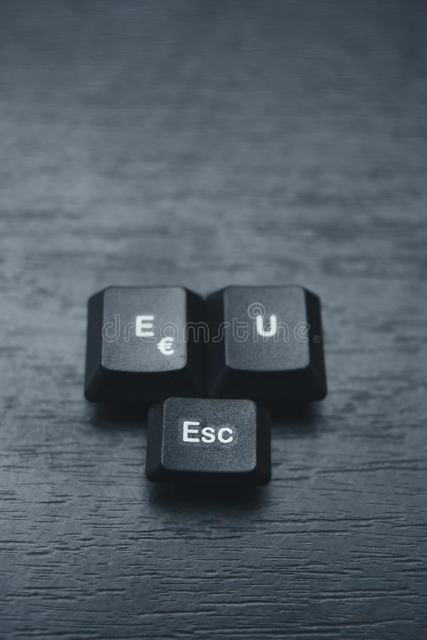 Избежание ЕС написанное с ключами на клавиатуре стоковое фото