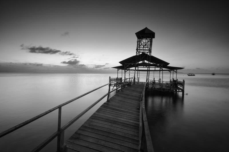 Изумляя остров Lang Tengah изящного искусства черно-белый,  Terengganu Малайзия стоковая фотография