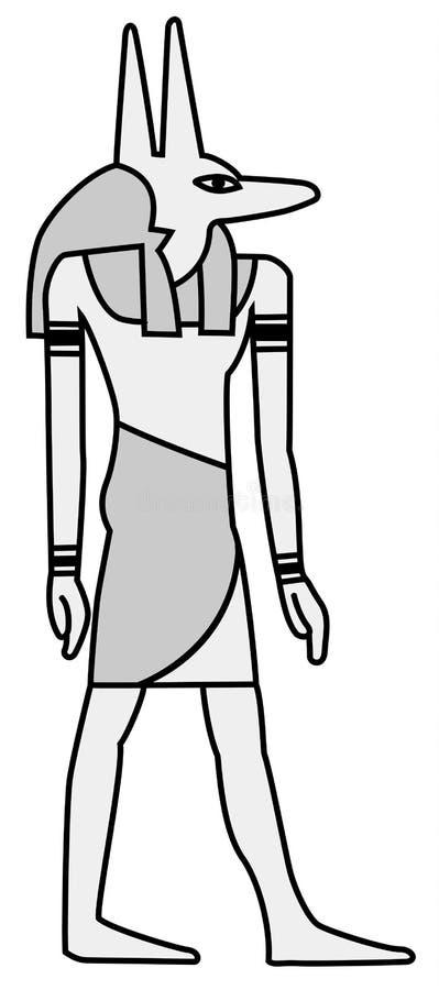 Изображение Anubis покрасило на старой египетской настенной росписи бесплатная иллюстрация