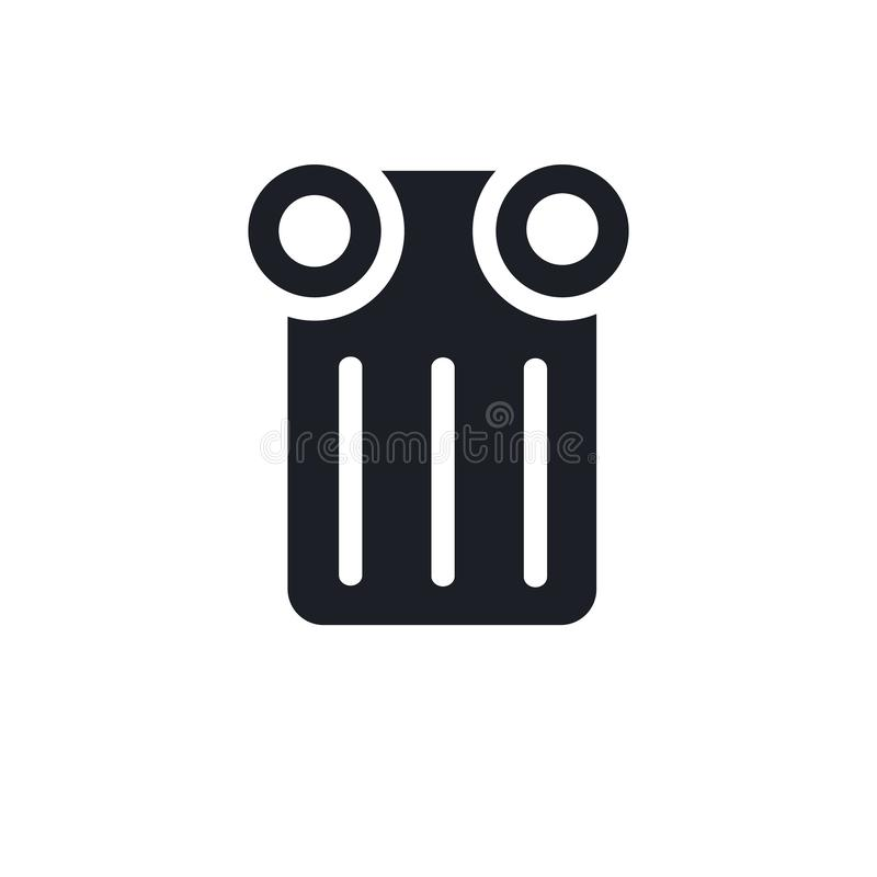 Изолированная икона простая иллюстрация элемента от значков концепции музея editable дизайн символа знака логотипа на белой предп иллюстрация вектора