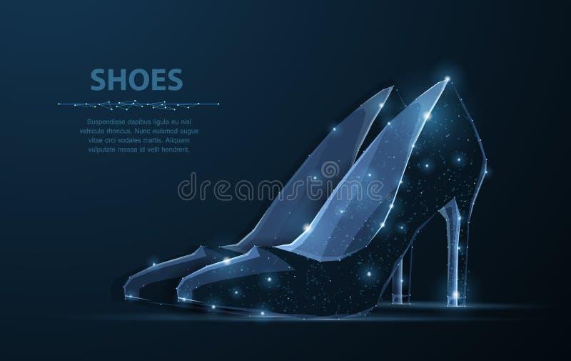 Изолированный ботинок женщины вектора Элегантность, очарование, символ красоты иллюстрация вектора