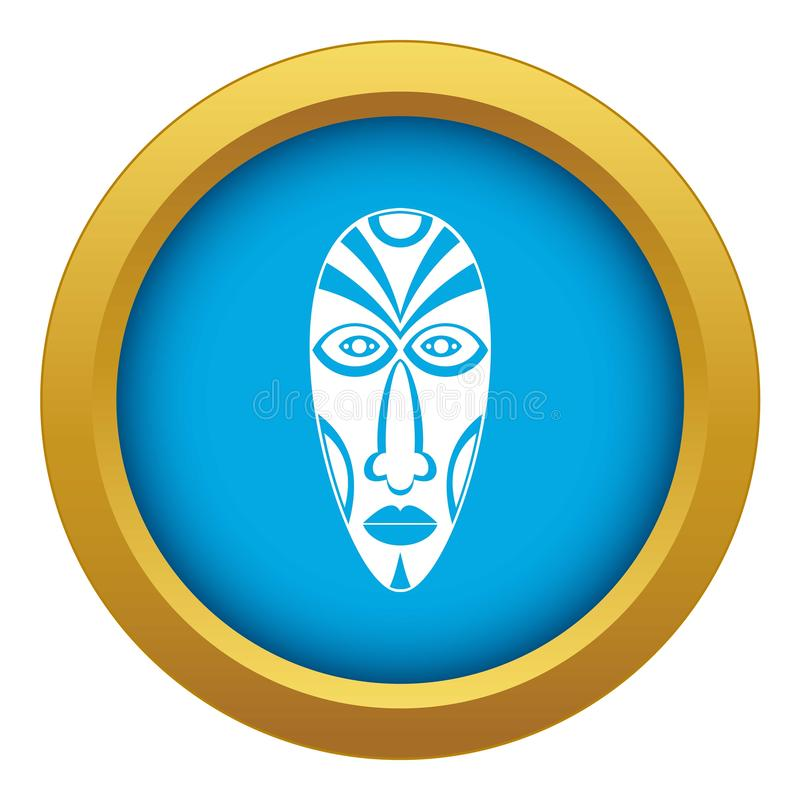 Изолированный вектор африканского значка маски голубой бесплатная иллюстрация