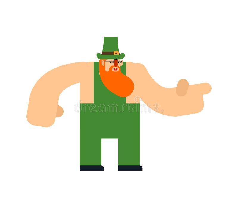 Изолированный лепрекон Характер дня St Patricks Ирландский праздник Карлик в зеленой шляпе бесплатная иллюстрация