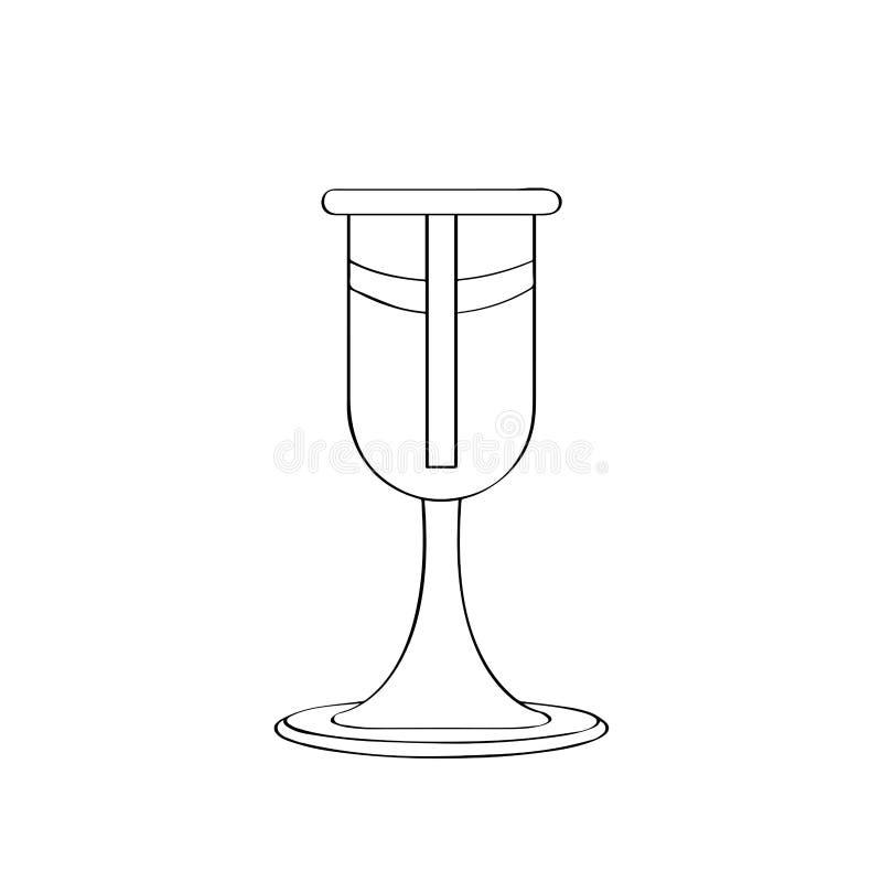 Изолированный план кубка бесплатная иллюстрация