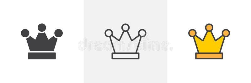икона кроны королевская иллюстрация вектора