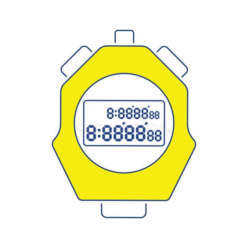 Икона секундомера бесплатная иллюстрация