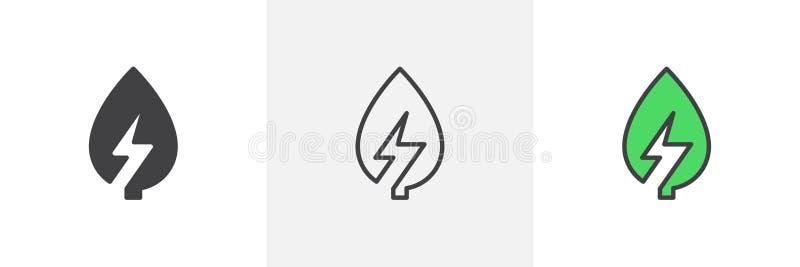 икона энергии зеленая иллюстрация вектора