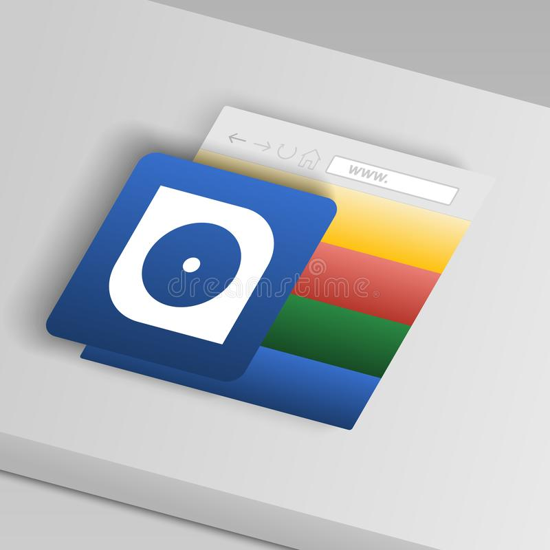 Икона трудного диска От значков кнопки собрания иллюстрация штока