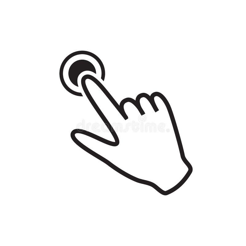 Икона руки щелкая бесплатная иллюстрация