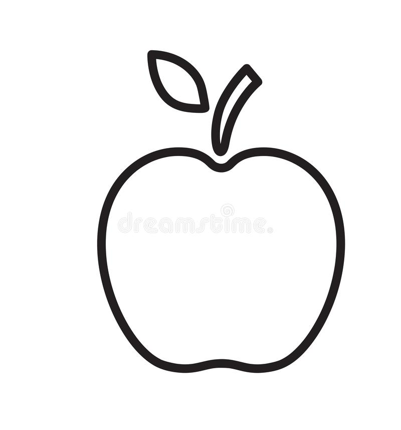 Line apple icon vector illustration isolated on white stock illustration